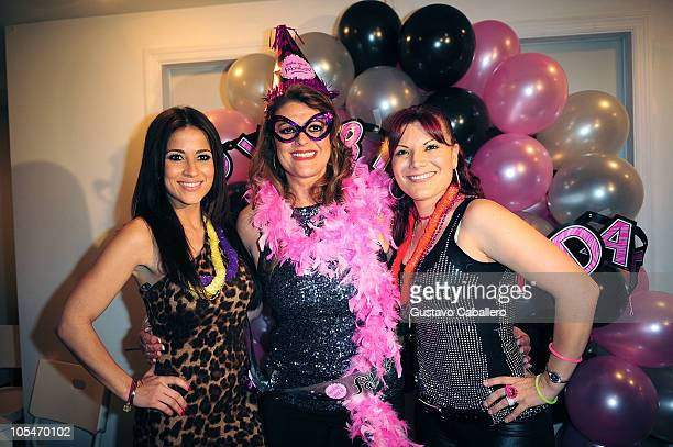 Jackie GuerridoRosa Gloria Chagoyan and Diana Reyes attend the birthday celebration for Rosa Gloria Chagoyan at La Lupita on October 14 2010 in Miami...
