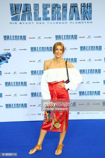 Jackie Hide attends the German premiere of 'Valerian Die Stadt der Tausend Planeten' at CineStar on July 19 2017 in Berlin Germany