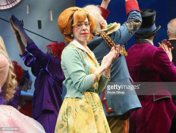 Jackie Hoffman takes her opening night curtain call for the new musical 'Charlie and The Chocolate Factory' on Broadway at The LuntFontanne Theatre...