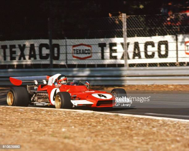 Jackie Ickx driving a Ferrari 312 at Monza Italian GP