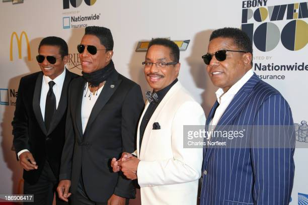 Jackie Jackson Jermaine Jackson Marlon Jackson and Tito Jackson attend the 2013 EBONY Power 100 List Gala at Frederick P Rose Hall Jazz at Lincoln...