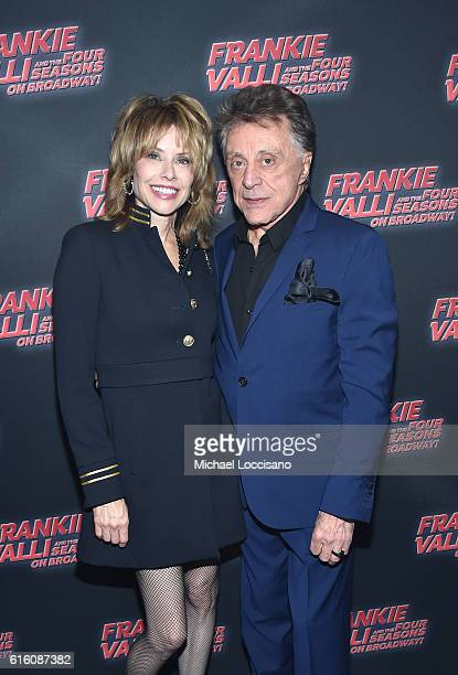 Jackie Jacobs of CBS and music artist Frankie Valli attends Frankie Valli And The Four Seasons Broadway Opening Night at LuntFontanne Theatre on...