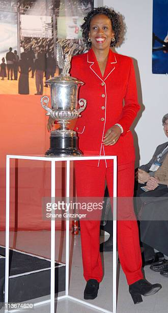Jackie Joyner Kersee during Sports Icons Press Conference Unveiling Plans for the Museum's Billie Jean King International Women's Sports Center at...