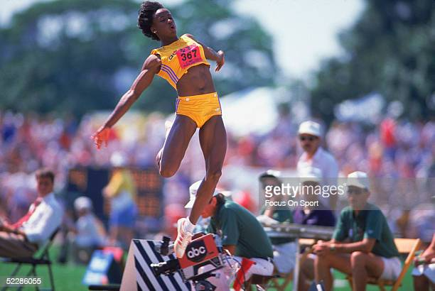 Jackie JoynerKersee competes in the women long jump during the 1984 Summer Olympics XXIII in Los Angeles California
