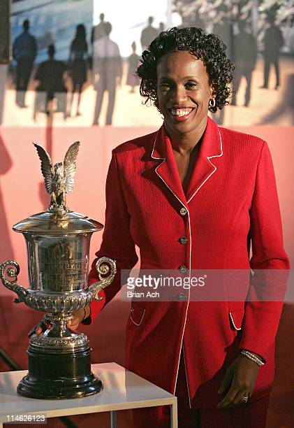Jackie Joyner-Kersee during Sports Icons Press Conference Unveiling Plans for the Museum's Billie Jean King International Women's Sports Center at...