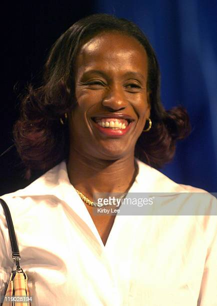 Jackie Joyner-Kersee during Track & Field Olympian Wilma Rudolph Honored on U.S. Postage Stamp at Sacramento Convention Center in Sacramento,...
