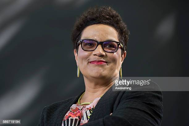 Jackie Kay attends the Edinburgh International Book Festival on August 15 2016 in Edinburgh Scotland The Edinburgh International Book Festival is one...