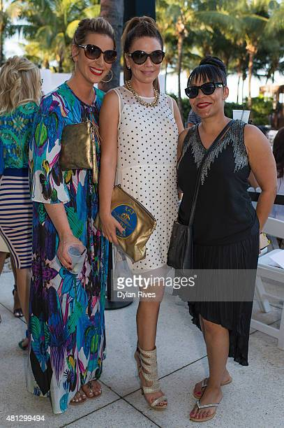 Jackie Kay Shireen Sandoval and Jessie Rosario attend CFDA Incubator show and cocktail party at W South Beach For SWIMMIAMI 2016 at W South Beach...