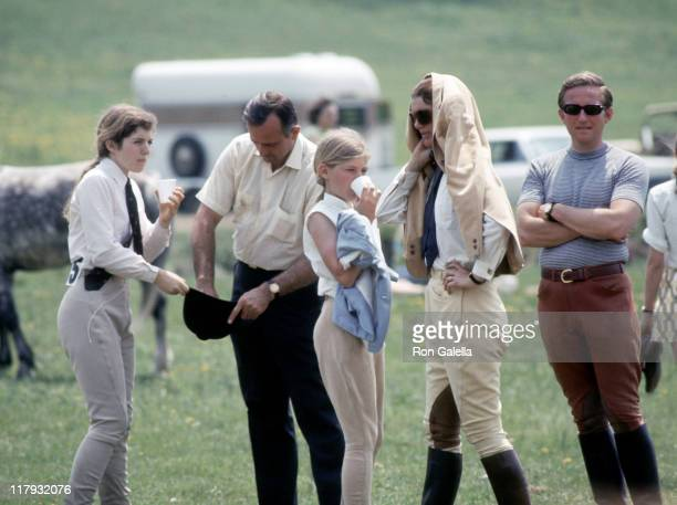 Jackie Kennedy and Caroline Kennedy during 17th Annual Horse Show at Vince Lombardi Center in Peapack New Jersey United States