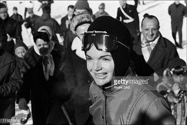 Jackie Kennedy And Her Sons At Gstaad Portrait Of Jackie In Gstaad Switzerland January 1966