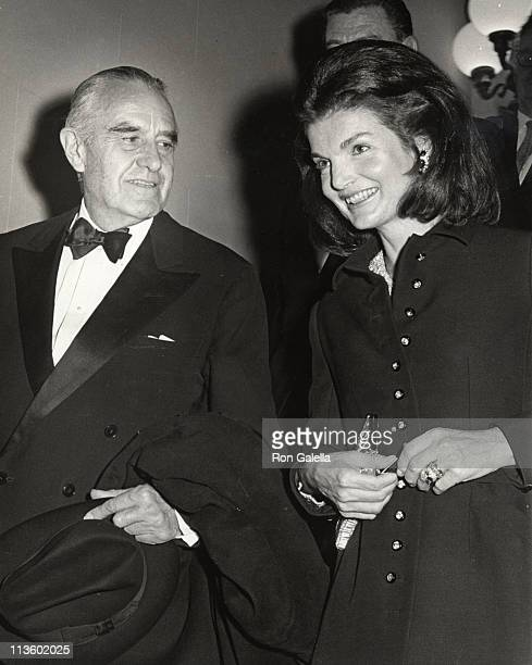 Jackie Kennedy Onassis and Averell Harriman during Democratic National Comittee Fundraising Dinner at Plaza Hotel in New York City, New York, United...