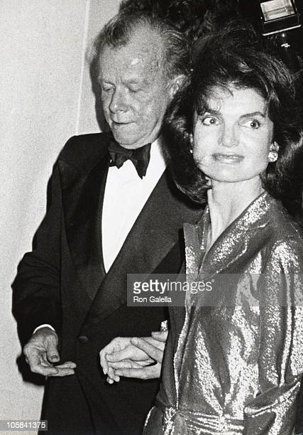 Jackie Kennedy Onassis and Bill Walton during International Center of Photography 4th Anniversary Gala at International Center of Photography in New...