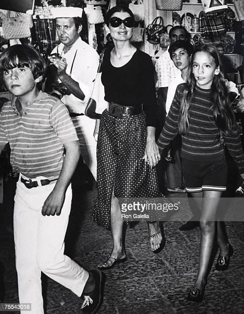 Jackie Kennedy Onassis and her Niece and Nephew