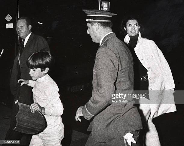 Jackie Kennedy Onassis and John F Kennedy Jr during Jackie Kennedy Onassis and John F Kennedy Jr In New York City in New York City New York United...
