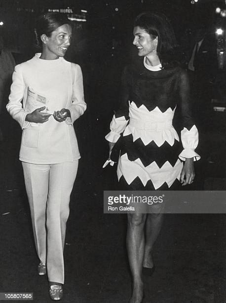 """Jackie Kennedy Onassis and Lee Radziwill during """"Company"""" Opening Night on Broadway at The Alvin Theater in New York City, New York, United States."""