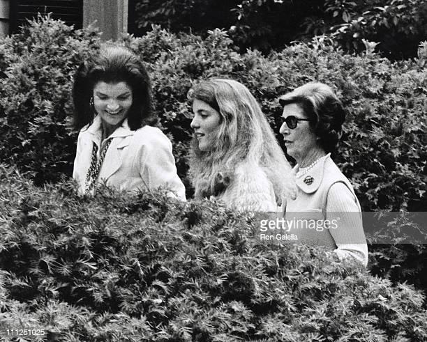 Jackie Kennedy Onassis Caroline Kennedy and Janet Auchincloss