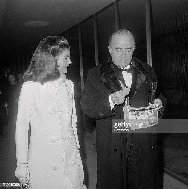 Jackie Kennedy talks with composer Samuel Barber at 125th Anniversary of MET.