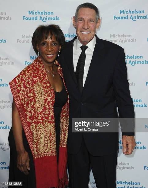 Jackie Lacey and Dr Gary Michelson attend the 8th Annual Michelson Found Animals Foundation Gala held at SLS Hotel on October 5 2019 in Beverly Hills...