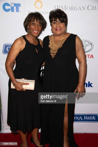 Jackie Lacey and Faye Washington attend YWCA Greater Los Angeles 125th Anniversary Gala at Lowes Hollywood Hotel on November 1 2018 in Hollywood...