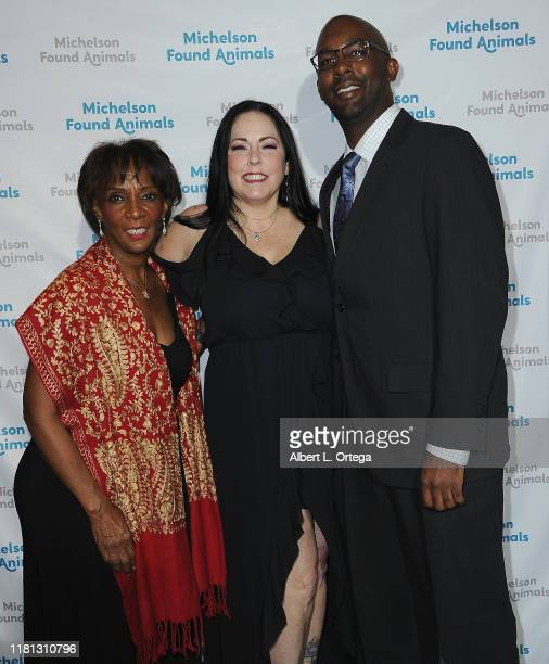 Jackie Lacey and Kareem Lacey attend the 8th Annual Michelson Found Animals Foundation Gala held at SLS Hotel on October 5 2019 in Beverly Hills...