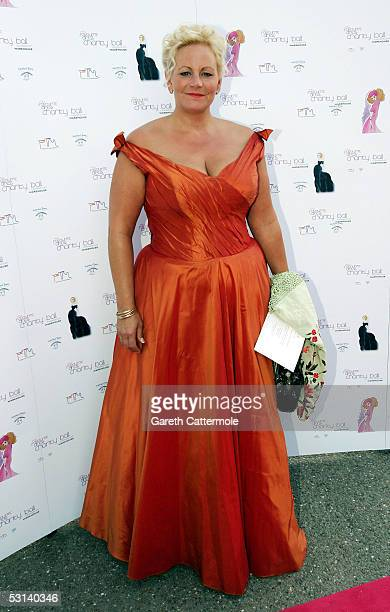 Jackie LewelynBowen attends the My Favourite Dress Ball hosted by Zandra Rhodes and other big names in British fashion at The Hurlingham Club on June...
