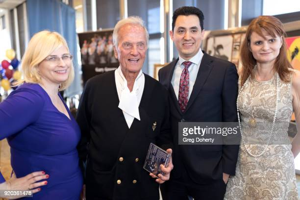 Jackie Lewis Pat Boone David Hurtado and Tiffany Ladner attend The Thalians Hollywood for Mental Health Presidents Club Party at Dorothy Chandler...