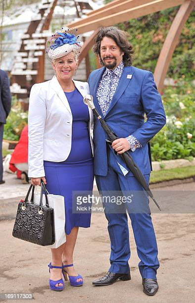 Jackie LlewellynBowen and Laurence LlewellynBowen attend the Chelsea Flower Show press and VIP preview day at Royal Hospital Chelsea on May 20 2013...