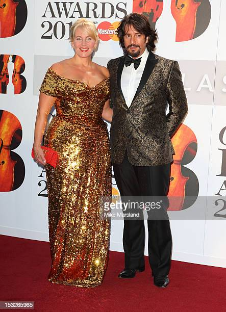Jackie LlewelynBowen and Laurence LlewelynBowen attend the Classic BRIT Awards at Royal Albert Hall on October 2 2012 in London England