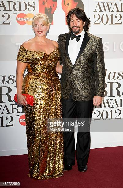 Jackie LlewelynBowen and Laurence LlewelynBowen attend the Classic Brit Awards 2012 at Royal Albert Hall on October 2 2012 in London United Kingdom