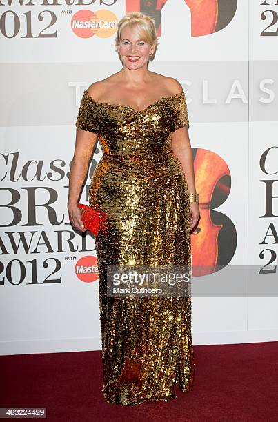 Jackie LlewelynBowen attends the Classic Brit Awards 2012 at Royal Albert Hall on October 2 2012 in London United Kingdom