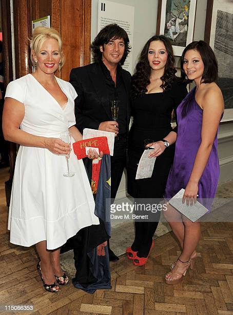 Jackie LlewelynBowen Laurence LlewelynBowen Cecile LlewelynBowen and Hermione LlewelynBowen attend the Royal Academy of Arts' summer exhibition...