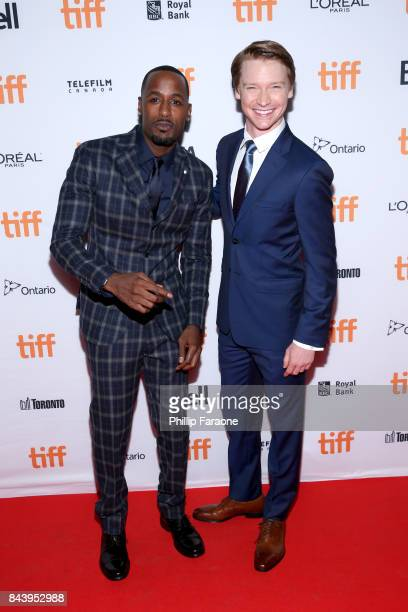 Jackie Long and Calum Worthy attend the 'Bodied' premiere during the 2017 Toronto International Film Festival at Ryerson Theatre on September 7 2017...