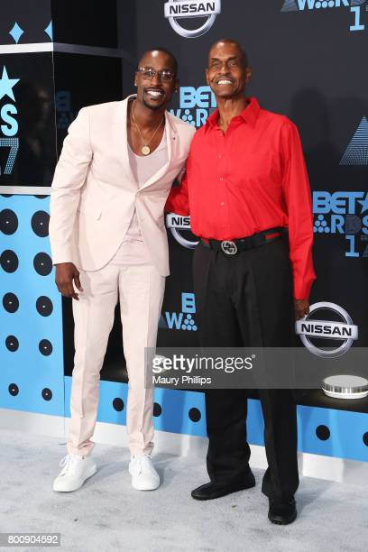 Jackie Long and guest at the 2017 BET Awards at Microsoft Square on June 25 2017 in Los Angeles California