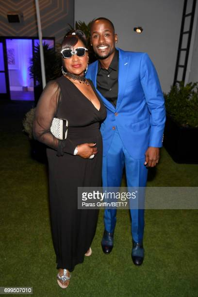 Jackie Long and guest at the Debra Lee PreBET Awards Dinner on June 21 2017 in Los Angeles California