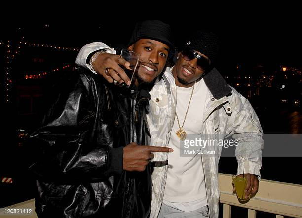 Jackie Long and Sean 'Diddy' Combs during 2007 Sundance Film Festival 'Interview' Party At Delta Sky Lodge at Delta Sky Lounge in Park City Utah...