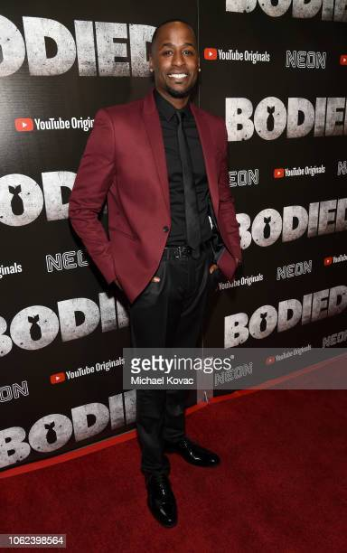 Jackie Long attends the Los Angeles Premiere For YouTube Premium And Neon's Bodied on November 01 2018 in Hollywood California