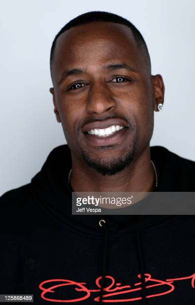 Jackie Long poses for a portrait during the 2011 Sundance Film Festival at the WireImage Portrait Studio at The Samsung Galaxy Tab Lift on January 22...