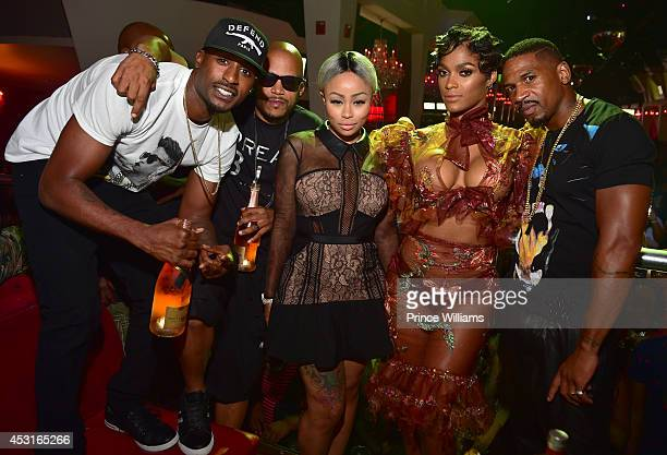 Jackie Long Roger Bonds Blac Chyna Joseline Hernandez and Stevie J attend the Bronner Brothers official after party at Velvet Room on August 3 2014...