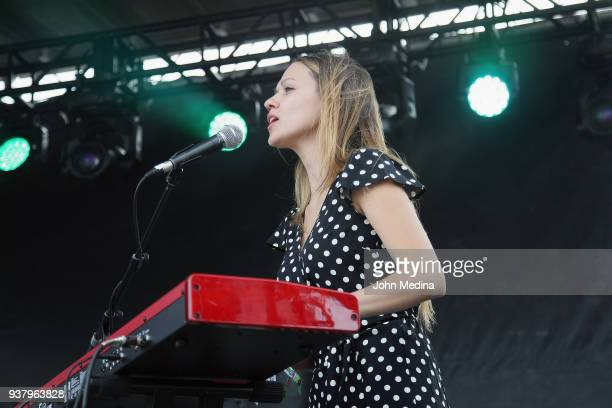 Jackie Miclau of Mt Joy performs during the 1st annual Innings festival at Tempe Beach Park on March 25 2018 in Tempe Arizona