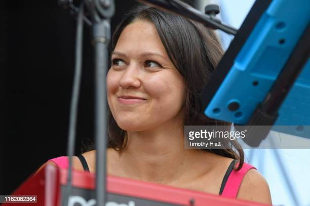 Jackie Miclau of Mt Joy performs on Day 3 of the Forecastle Festival at Louisville Waterfront Park on July 14 2019 in Louisville Kentucky