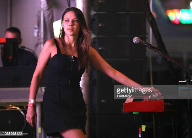 Jackie Miclau of Mt Joy performs on Huntridge Stage during the 2018 Life Is Beautiful Festival on September 23 2018 in Las Vegas Nevada