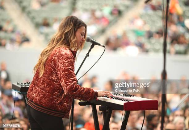 Jackie Miclau of Mt Joy performs onstage at KROQ Weenie Roast 2018 at StubHub Center on May 12 2018 in Carson California
