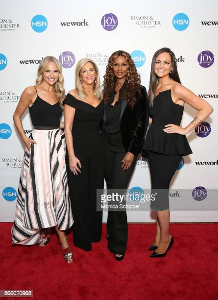 Jackie Miranne author Joy Mangano supermodel Iman and Christie Miranne attend as Inventor and entrepreneur Joy Mangano celebrates the release of her...