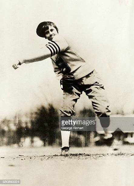 Jackie Mitchell the first woman to sign an organized baseball contract had the honor of pitching some fast ones to Babe Ruth and Lou Gehrigso fast...