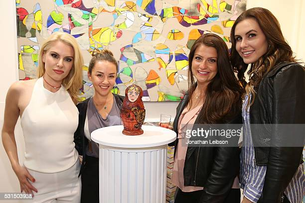 Jackie Moore and Lexi Ainsworth attend the CreoPop 3D Art Exhibition at Artspace Warehouse on May 14 2016 in Los Angeles California