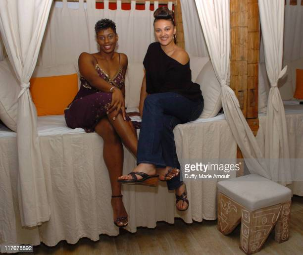 Jackie Moore and Misty Williams during WNBA Player Teresa Witherspoon Announces Her New Reality Show at Nikki Midtown and Celebrates With Other WNBA...