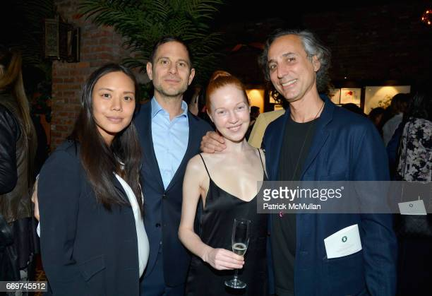 Jackie Nguyen Peter Makebish Lauren Isabeau and Bob Recine attend The Turtle Conservancy's 4th Annual Turtle Ball at The Bowery Hotel on April 17...
