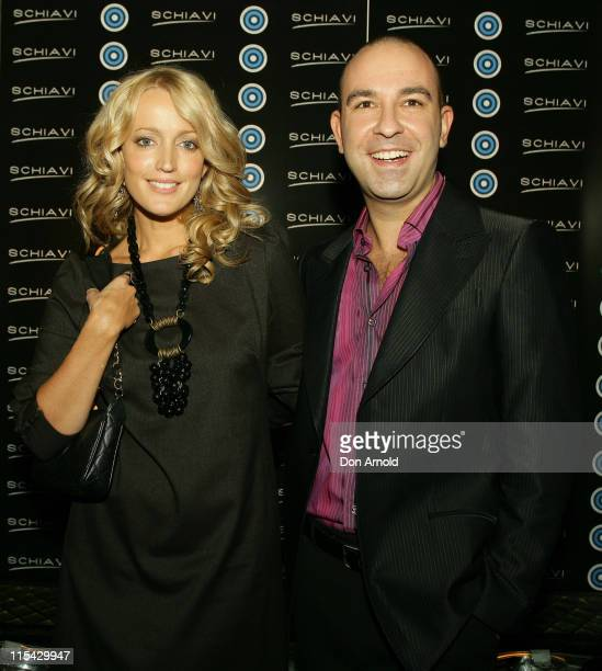 Jackie O and Bruno Schiavi during Schiavi Teams Up with Fashion Targets Breast Cancer Shoe Launch at GPO Martin Place in Sydney New South Wales...