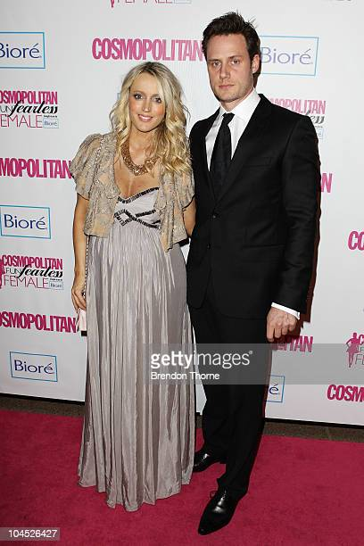 Jackie O and Lee Henderson arrives for the Cosmopolitan Fun Fearless Female Awards at the Sydney Opera House on September 29 2010 in Sydney Australia
