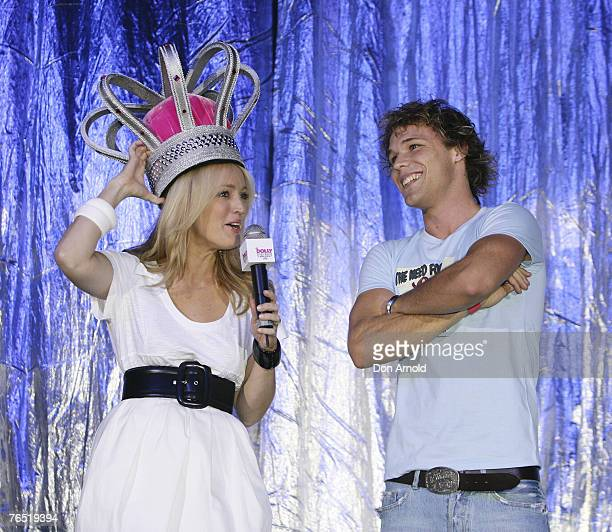 Jackie O and Lincoln Lewis at the Dolly Teen Choice Awards at Luna Park on September 5 2007 in SydneyAustralia